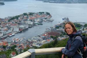 Bergen set fra Fløyen